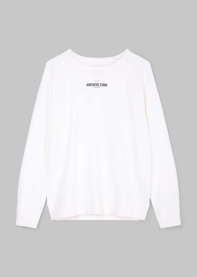 Logo Sweatshirt egg white