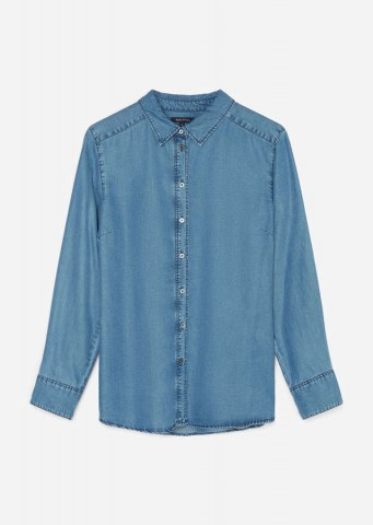 Bluse aus Lyocell, tencel denim blouse blue