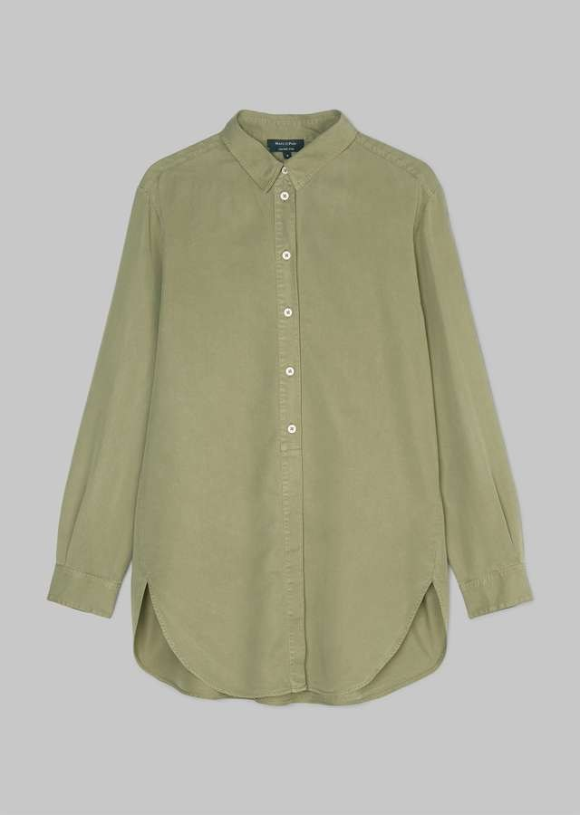 Garment dyed Oversize Bluse dried sage