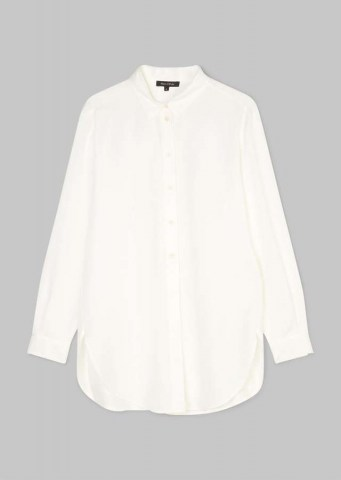 Lyocell Oversize Bluse paper white
