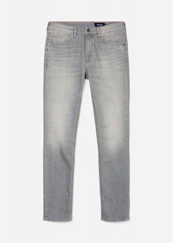 Jeans VIDAR slim mit Crinkle-Effekt, light grey